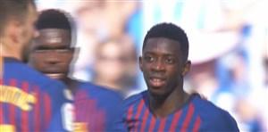 گل دوم بارسلونا به رئال سوسیداد (دمبله)