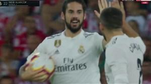 گل اول رئال مادرید به اتلتیک بیلبائو توسط ایسکو