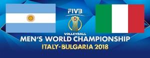 خلاصه والیبال ایتالیا 3 - آرژانتین 1
