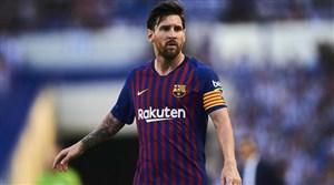 گل سوم بارسلونا به آیندهوون (دبل مسی)