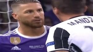لحظات خشم و عصبانت سرخیو راموس در زمین فوتبال