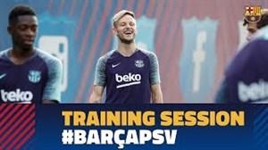 تمرین تیم بارسلونا بعد از دیدار با رئال سوسیداد