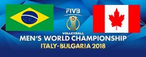 خلاصه والیبال برزیل 3 - کانادا 1 (قهرمانی جهان)