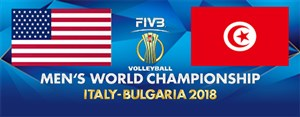 خلاصه والیبال آمریکا 3 - تونس 0 (قهرمانی جهان)