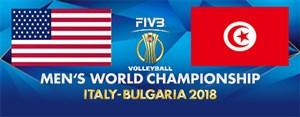 خلاصه والیبال آمریکا 3 - تونس 0