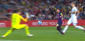 گل چهارم بارسلونا به آیندهوون با هتریک مسی