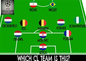 چاش حدس تیمهای حاضر در لیگ قهرمانان اروپا