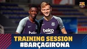 تمرین ریکاوری تیم بارسلونا بعد از تقابل با آیندهوون