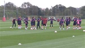 تمرین تیم آرسنال قبل از شروع لیگ اروپا 19-2018