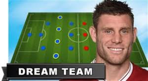تیم منتخب 5 نفره به انتخاب جیمز میلنر