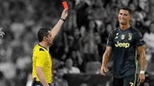 تمام 11 کارت قرمز کریستیانو رونالدو در دوران بازی اش