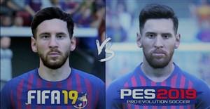 مقایسه چهره بازیکنان بارسلونا در PES 2019 و FIFA 19