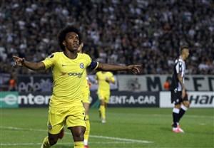 پیروزی خفیف چلسی مقابل پائوک در لیگ اروپا