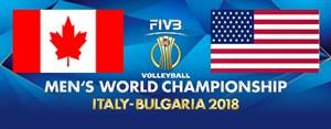 خلاصه والیبال آمریکا 3 - کانادا 1 (قهرمانی جهان)
