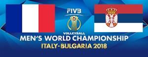 خلاصه والیبال صربستان 3 - فرانسه 2 (قهرمانی جهان)