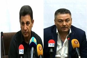 کنفرانس خبری پس از بازی سرمربیان سپاهان - فولاد