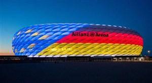 نورپردازی ویژهی آلیانس برای میزبانی جام ملتها