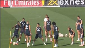 حرکات تکنیکی وینیسیوس جونیور در تمرین رئال مادرید