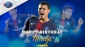 تبریک تولد تیاگو سیلوا توسط پاری سن ژرمن