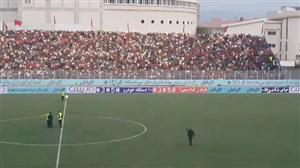 جو فوق العاده ورزشگاه وطنی قبل از بازی نساجی - استقلال