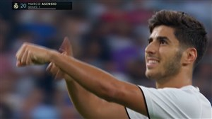 گل اول رئال مادرید به اسپانیول توسط آسنسیو
