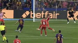 گل اول بارسلونا به خیرونا (مسی)