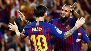 گل دوم بارسلونا به بتیس (ویدال)
