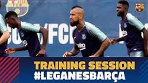 تمرین ریکاوری بارسلونا پس از دیدار برابر خیرونا