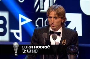 لوکا مودریچ؛ بازیکن سال فوتبال جهان در سال 2018