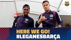 سفر بازیکنان بارسلونا برای دیدار با لگانس