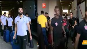 ورود بازیکنان استقلال و پرسپولیس به استادیوم آزادی