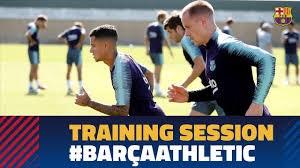 تمرین امروز بازیکنان بارسلونا (05-07-97)