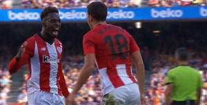 گل اول اتلتیک بیلبائو به بارسلونا (دی مارکوس)