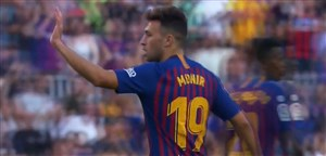 گل اول بارسلونا به بیلبائو (مونیر)