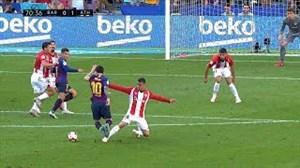 عملکرد لیونل مسی مقابل بیلبائو در هفته هفتم لالیگا