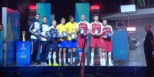 اهدای جوایز بازیکنان برتر والیبال قهرمانی جهان 2018