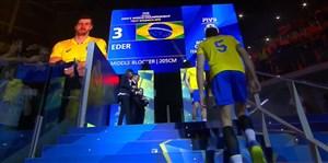 اهدای مدال رقابت های والیبال قهرمانی جهان 2018