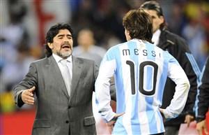 مارادونا به مسی: دیگر به تیم ملی نرو مرد!
