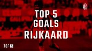 5 گل برتر فرانک رایکارد با لباس آث میلان