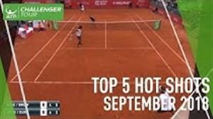 5 ضربه برتر تنیس در ماه گذشته