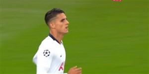 گل دوم تاتنهام به بارسلونا (لاملا)
