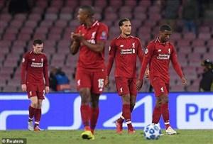 ناپولی 1-0 لیورپول: شکست قرمزها در دقیقه 90