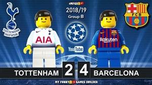 شبیه سازی لگو بازی تاتنهام  - بارسلونا