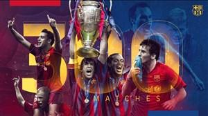 به مناسبت 300 بازی بارسلونا در رقابتهای اروپایی