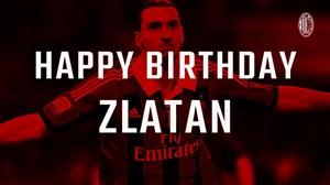 تبریک تولد زلاتان ابراهیموویچ توسط باشگاه آث میلان