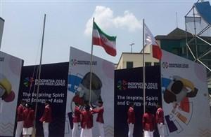 اهتزاز پرچم ایران در دهکده بازیهای پاراآسیایی