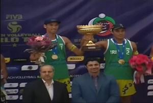 مراسم اهدای جوایز والیبال ساحلی تک ستاره بندرترکمن