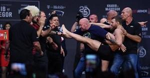 کنفرانس و پیش بازی UFC 229, حبیب - مک گرگور