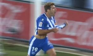 گل اول آلاوس به رئال مادرید (لوپز)