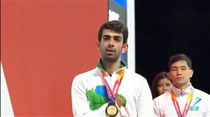 اهدای مدال طلا شاهین ایزدیار (بازیهای پارا آسیایی)